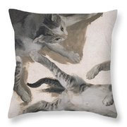 Sketches Of A Kitten Throw Pillow