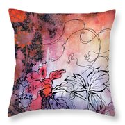 Sketchflowers - Calendula Throw Pillow