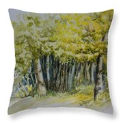 Sketching Trees Throw Pillow