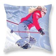 Ski 1 Throw Pillow