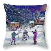 Ski Area Campton Mountain Throw Pillow