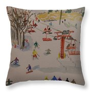 Ski Area Throw Pillow