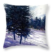 Ski Hill Throw Pillow