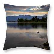 Skiddaw And Derwent Water At Dawn Throw Pillow