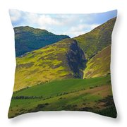 Skiddaw In The Lake District Throw Pillow