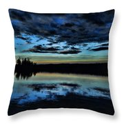 Skies Of The Great North Throw Pillow