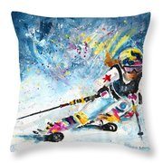 Skiing 03 Throw Pillow