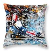 Skiing 04 Throw Pillow
