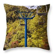 Skilift On Mt Harrison Throw Pillow