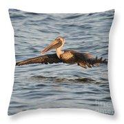 Skim Over The Sea Throw Pillow