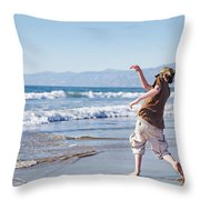 Skimming Stones Throw Pillow