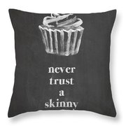 Skinny Cook Throw Pillow by Nancy Ingersoll