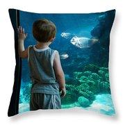 Skinny Fish Throw Pillow
