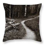 Skinny Trails Throw Pillow by Marilyn Hunt