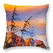 Skinny Trees Windy Day Throw Pillow