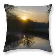Skippack Creek Sunrise Throw Pillow