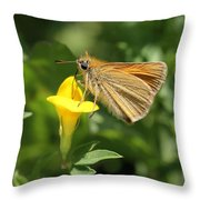 European Skipper On Bird's-foot Trefoil Throw Pillow