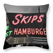 Skips Hamburgers II Throw Pillow