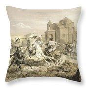 Skirmish Of Persians And Kurds Throw Pillow