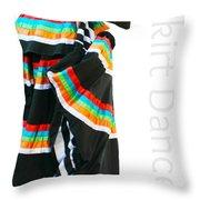 Skirt Dance Throw Pillow