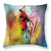 Skiscape 02 Throw Pillow