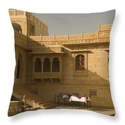 Skn 1322 Palatial Architecture Throw Pillow