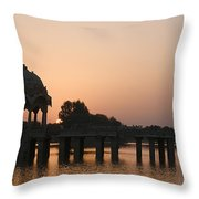 Skn 1356 Good Morning Jaisalmer Throw Pillow
