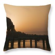 Skn 1383 The Morning Glow  Throw Pillow