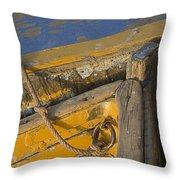 Skn 1394 Dilapidated Boats Throw Pillow