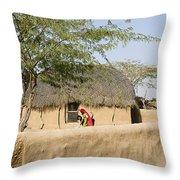 Skn 1401 Rural Background Throw Pillow