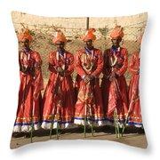 Skn 1508 Folk Dancers Throw Pillow