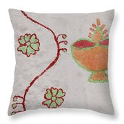 Skn 1658 Wall Drawing Throw Pillow