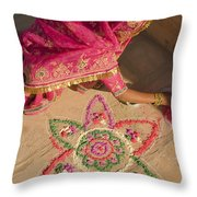 Skn 1707 Rangoli Designer Throw Pillow