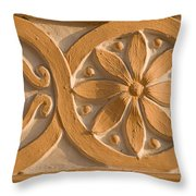 Skn 1788 The Wall Carving  Throw Pillow