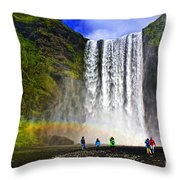 Skogarfoss Throw Pillow