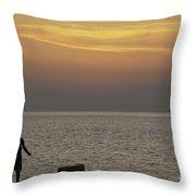 Skopelos Sunset - Fisher Boy - 2 Throw Pillow