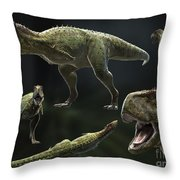 Skorpiovenator Bustingorryi A Genus Throw Pillow