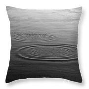Skc 0211 Three Gradual Circles Throw Pillow