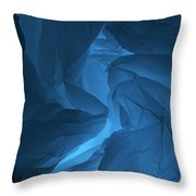 Skc 0247 Mystery In Blue Throw Pillow