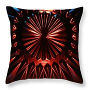 Skc 0285 Cut Glass Plate In Red And Blue Throw Pillow