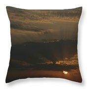 Skc 0320 Rising Rays Throw Pillow