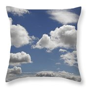 Skc 0328 The June Clouds Throw Pillow