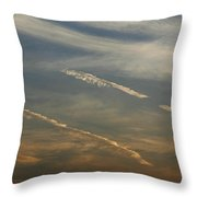 Skc 0365 Cloud Tracks Throw Pillow