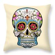 Skull 10 Throw Pillow