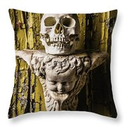 Skull And Angel Throw Pillow