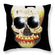 Skull Art In A Surrealism Definition Throw Pillow