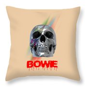 Skull Bowie  Throw Pillow