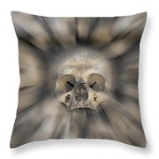 Skull - Fear And Trembling  Throw Pillow