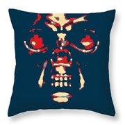 Skull In Hope Throw Pillow