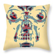Skull In Negative Hope Throw Pillow